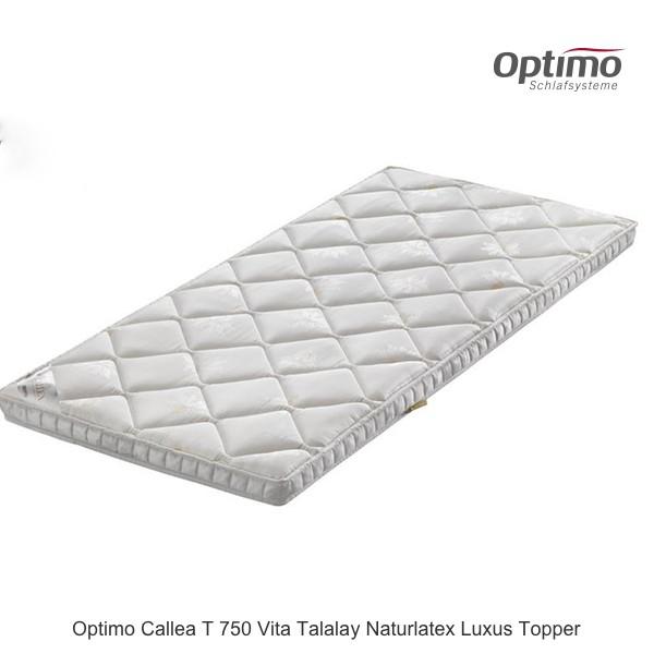 Optimo Callea T 750 Vita Talalay Naturlatex Topper
