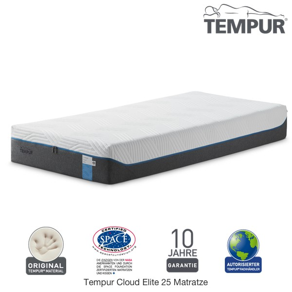 Tempur Cloud Elite 25 Matratze Visco Tempur Matratzen